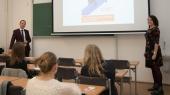 Přednáška Co čeká začínajícího podnikatele  (Bc. Lucie Kafková a Martin Henzl)
